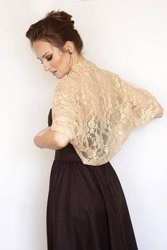 rodnad rosa bolero spets rygg axel svart passform och flare klänning