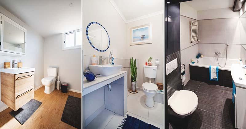 50 Elegant och praktisk liten badrumsidé