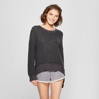 grå bekväm tröja med mini-byxor