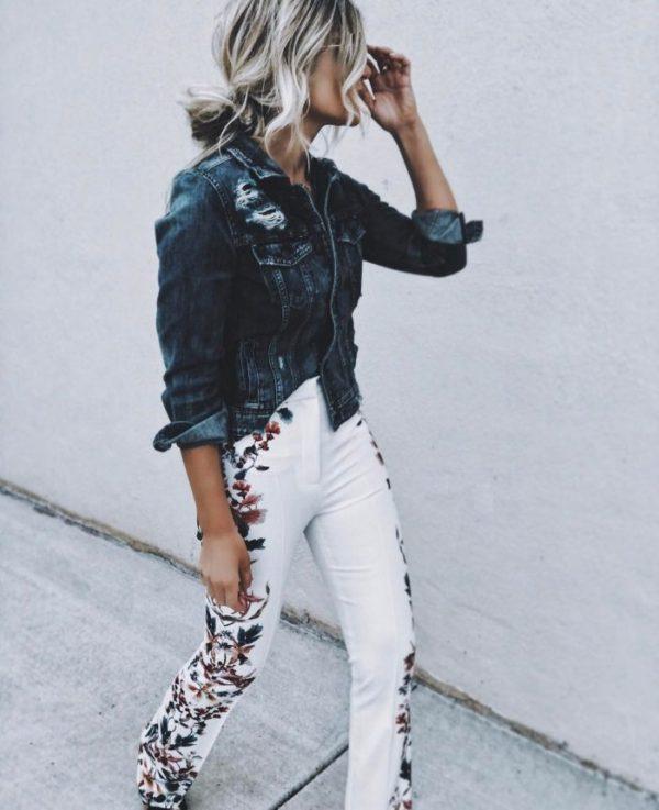 broderade jeans vita