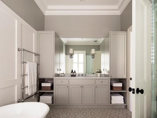 Fredlig badrumsdesign i neutrala färger - DigsDi
