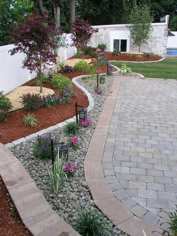 32 Fantastiska landskapsplaneringsidéer med lågt vatten för din trädgård.