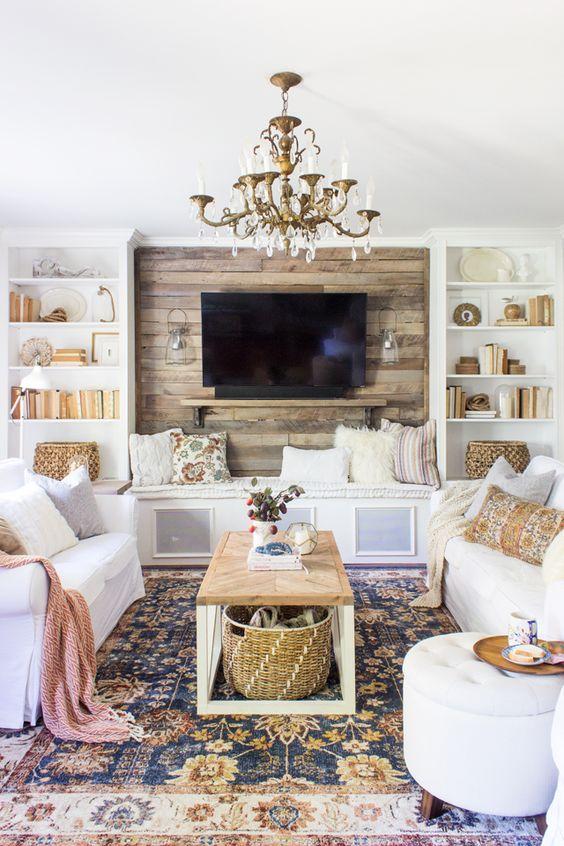 23 icke-tråkiga vita soffidéer för ditt vardagsrum - DigsDi