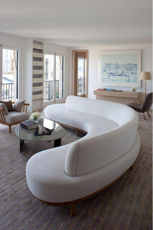 23 icke-tråkiga vita soffidéer för ditt vardagsrum    Soffa design.