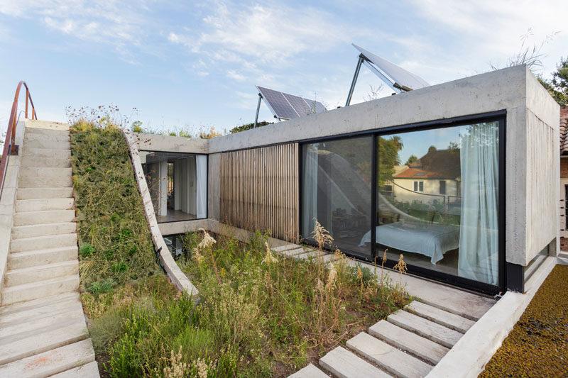 MeMo-huset har en trädgård som reser över tre våningar