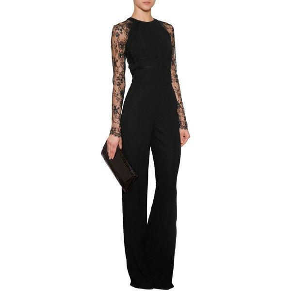 svart overall med vida ärmar och vida ben