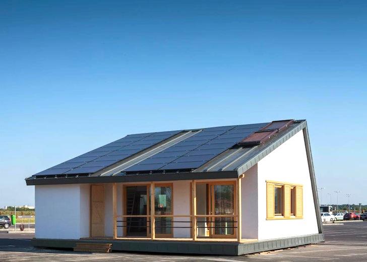 Rumäniens Prefab PRISPA Solar Decathlon House producerar 20% mer.