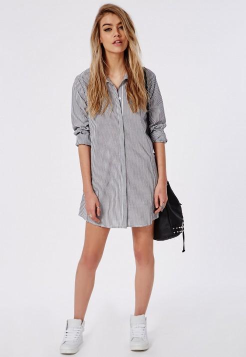 Pojkvän skjorta klänning outfit idé