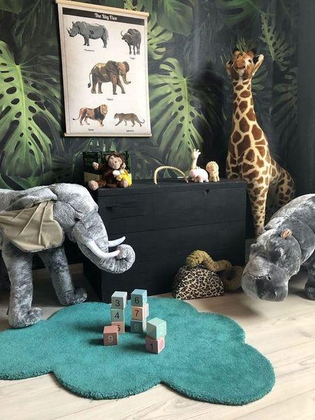 Jungle Nursery Decor, Safari Nursery Ideas, Tropical Nursery.