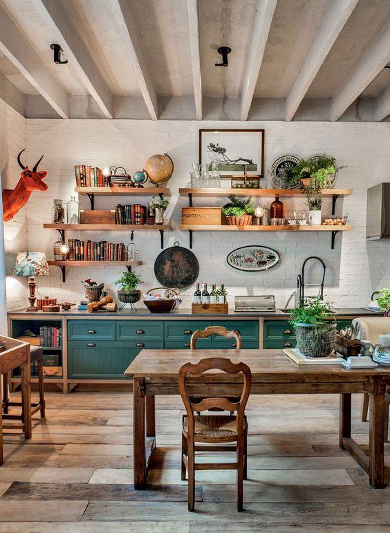25 Livliga eklektiska inredningsidéer för köket - DigsDi