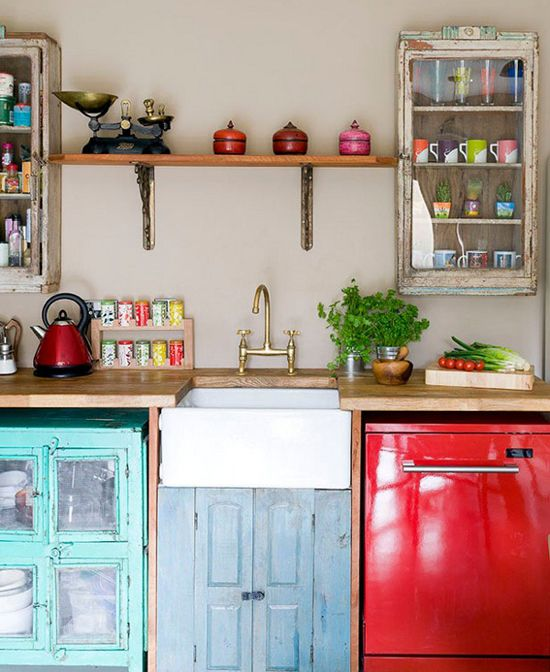 Kök på en budget |  Eklektiskt kök, fristående kök.
