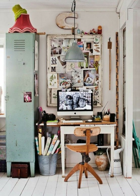 26 industriella hemmakontor som blåser dig |  Vintage.