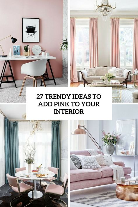 27 trendiga idéer för att lägga rosa till din interiör    Rosa heminredning.