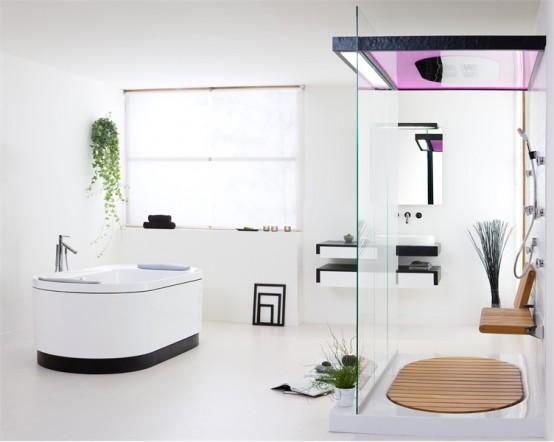 sovrumsdesign enkel: Modern badrumsuppsättning med Natural.