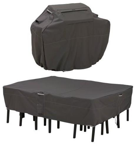 Klassiska tillbehör Ravenna grillöverdrag och uteplats / stol.