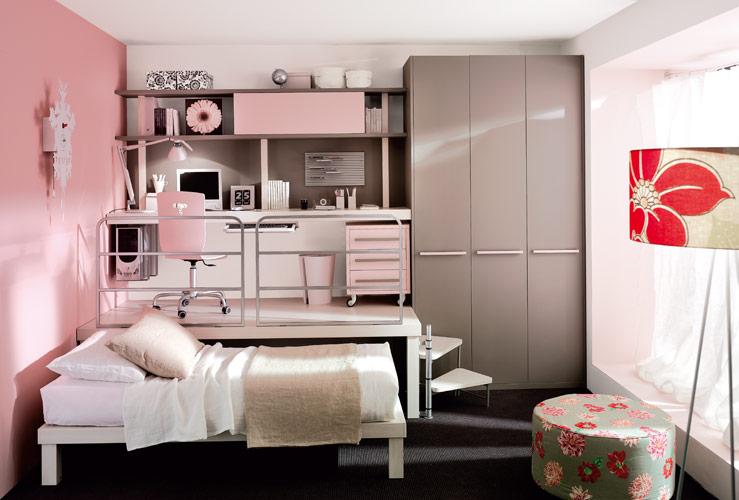Färgglada sovrum för tonårsloft av Tumidei Digsdigs, litet loft.