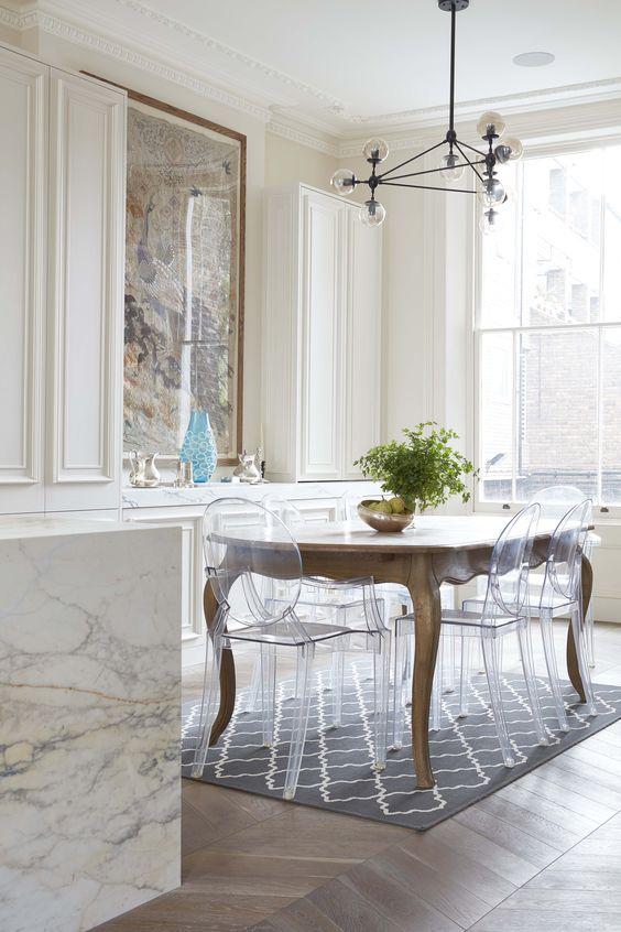 25 sätt att matcha ett antikt bord och moderna stolar - DigsDi