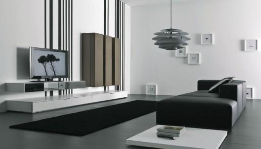 Modernt vardagsrums TV-väggmonteringsskåp, Spazio Box av.