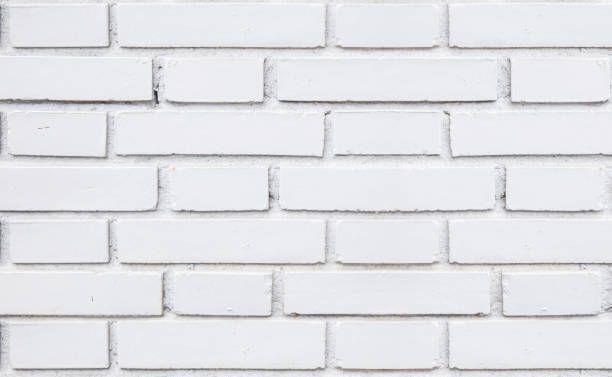 Rustik vit tegelvägg sömlös konsistens |  Vita tegelväggar.