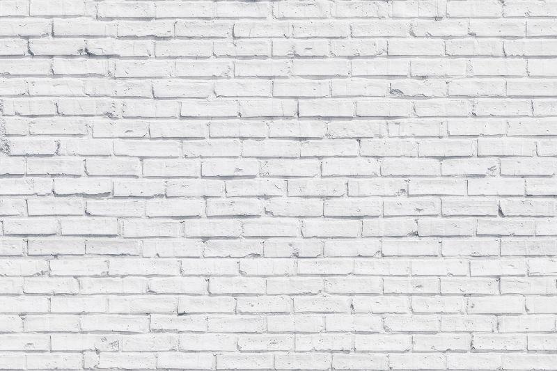 Ren vit tegel tapet väggmålning |  Vita tegelväggar, vita tegelstenar.