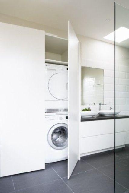 23 kreativa sätt att dölja en tvättmaskin i ditt hem - DigsDigs.