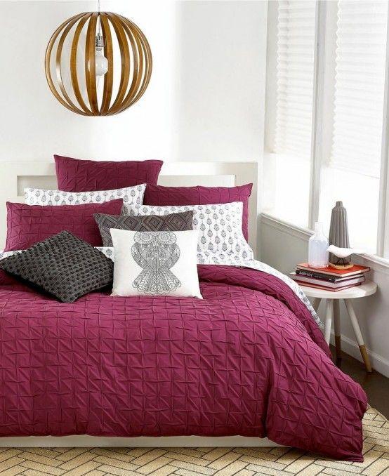 Hur man dekorerar ditt sovrum med Marsala: 20 idéer    DigsDigs.