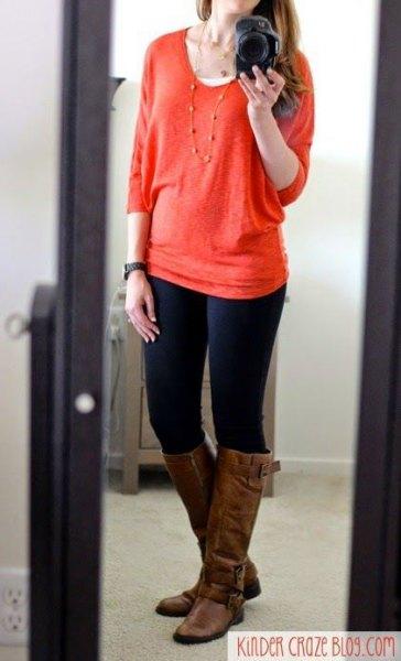 röda, tjocka skinny jeans