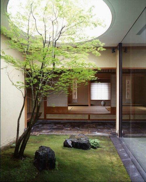 27 lugna japanskinspirerade innergårdsidéer |  DigsDigs |  Interiör .