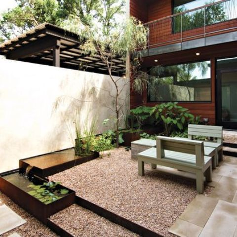27 lugna japanskinspirerade innergårdsidéer |  DigsDigs |  Modernt.