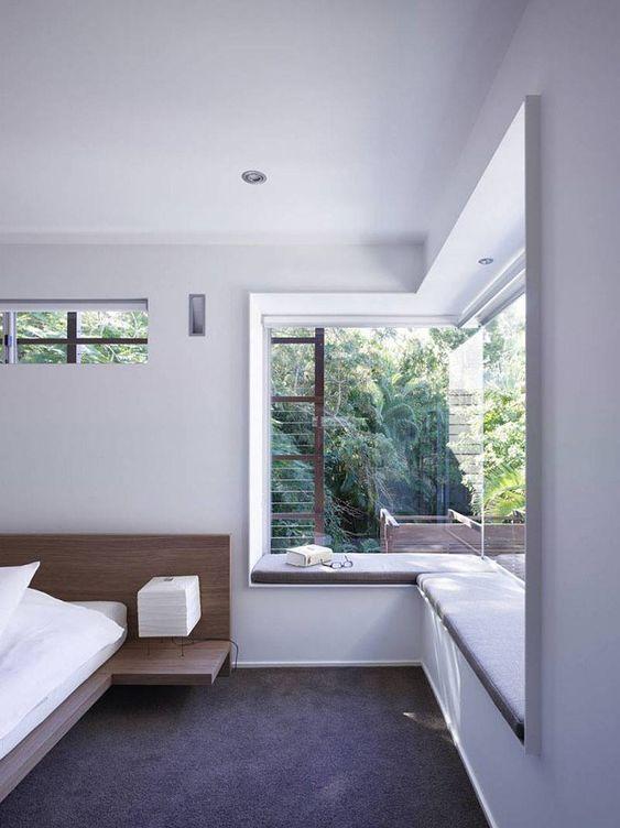 25 enkla sätt att omfamna utsikten i rummet |  Hörnfönster.