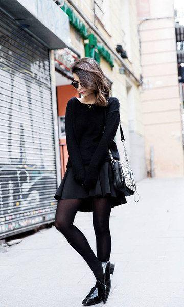 svart skater kjol helt svart