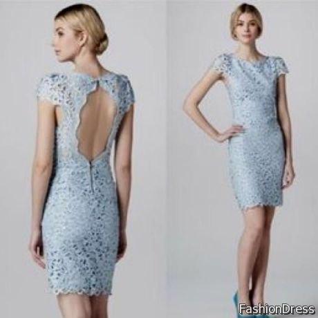 Halvlång rygg bodycon mini ljusblå klänning
