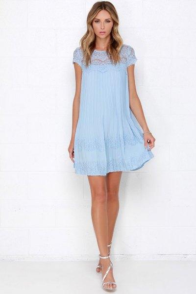 Cap Swing Mini Swing ljusblå spetsklänning