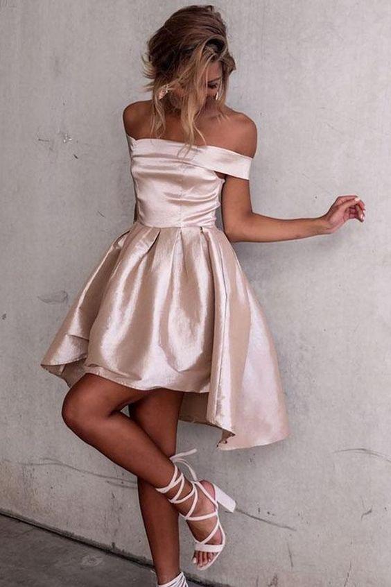 Hög, låg klänning, delikat rosa