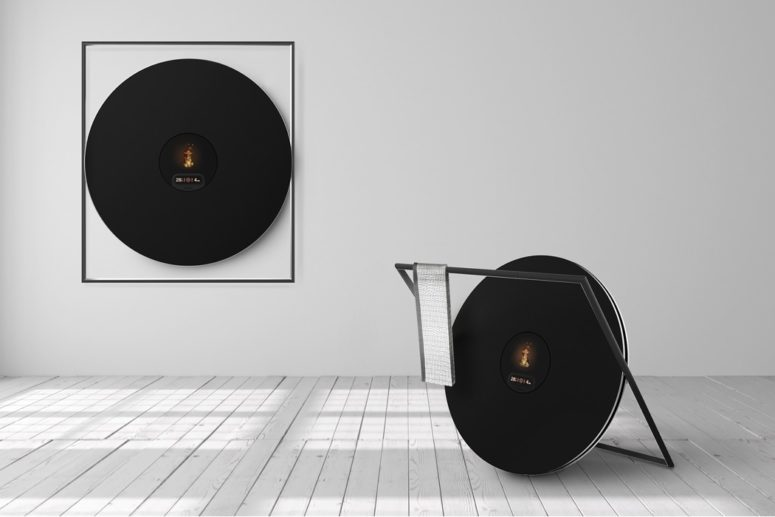 Modern öppen spis med unik design - DigsDi