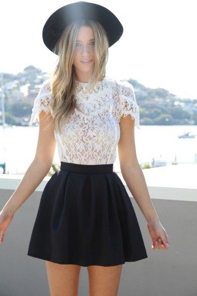 svart filthatt skater kjol
