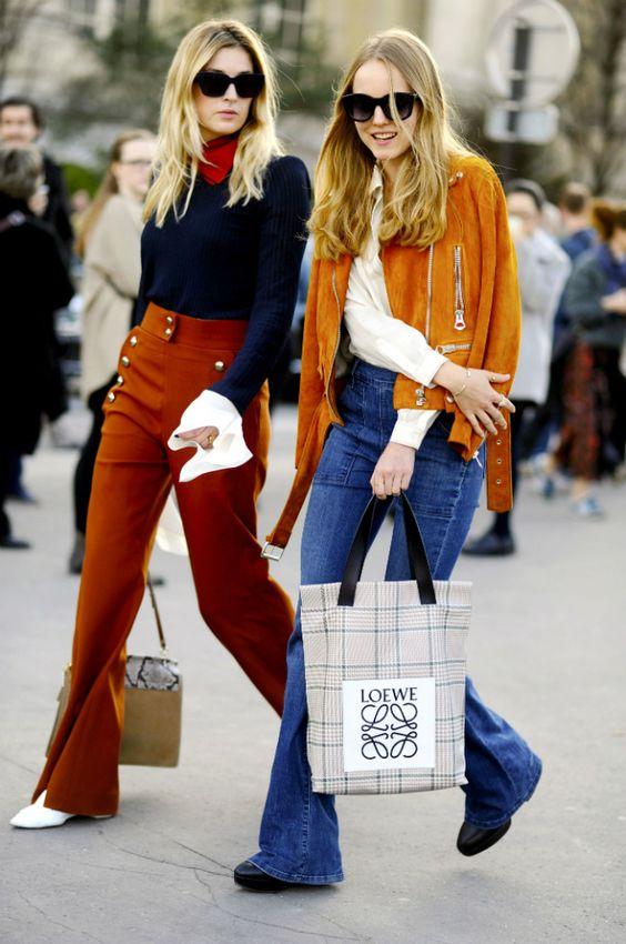 orange byxor mörkblå