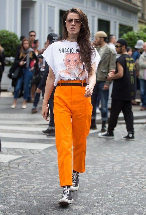 orange byxor rock n roll