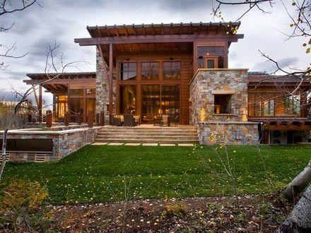 Modern Mountain Homes Modern Rustic Homes, modernt rustikt hus.