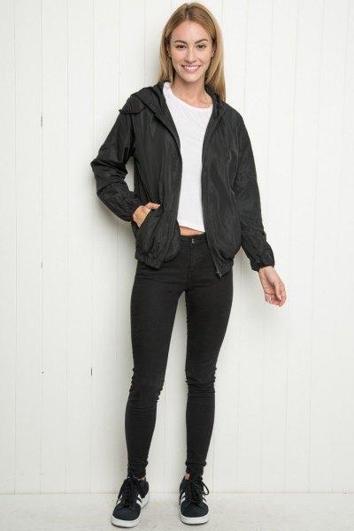 svart skinny jeans winer sportjacka