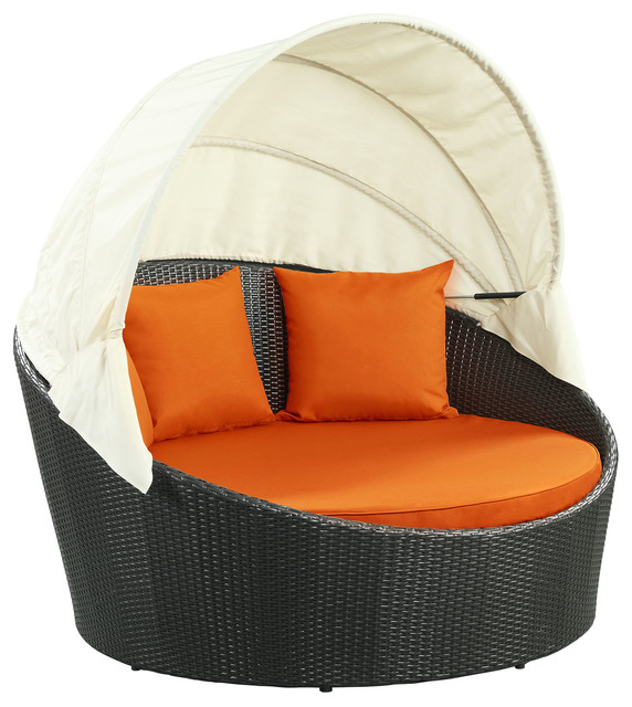 Siesta Canopy Outdoor Daybed - Tropical - Outdoor Chaise Lounges.