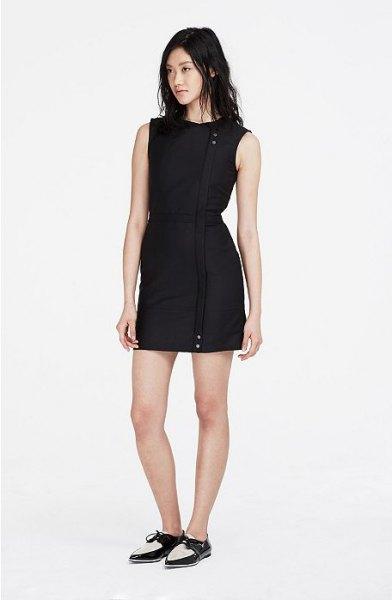 svart oxford skor klänning outfit