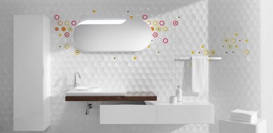 Futuristiska badrumsväggbehandlingar och skåp - Cube & Dot av.