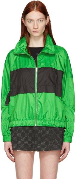 grön och svart blockpolo windbreaker med minikjol