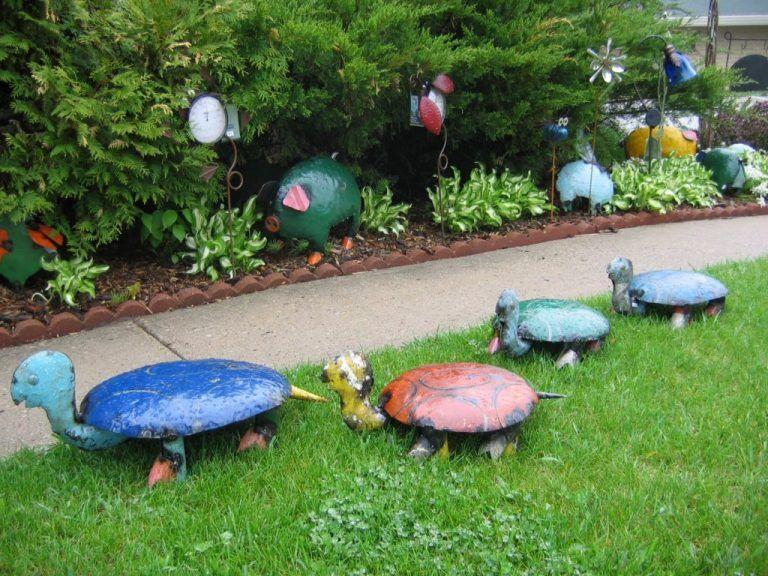 10 kreativa och unika små trädgårdsdekorationer - Simphome    Liten.