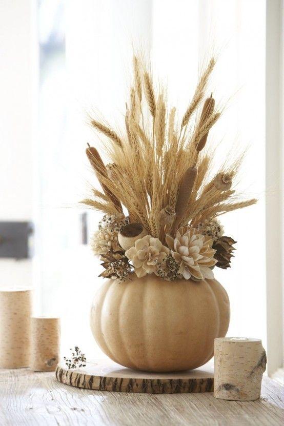 24 värmande och mysiga vete dekorationer för hösten |  DigsDigs |  Hösten.