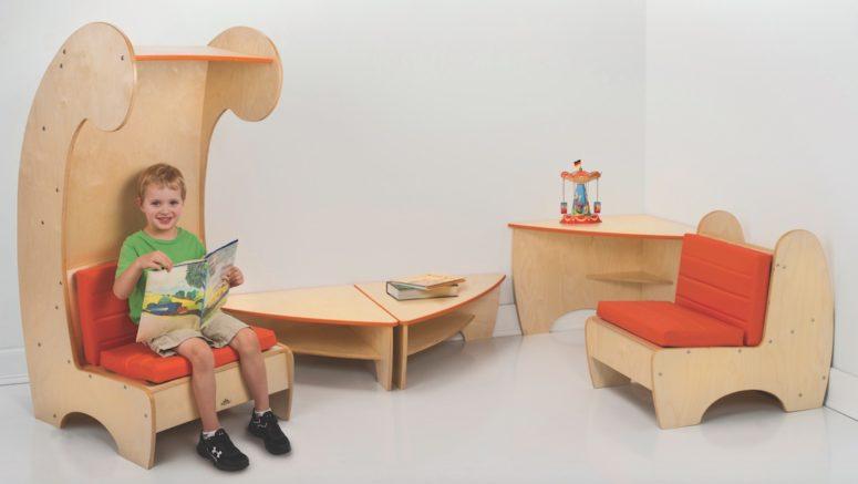 Samtida lässtol bokhylla för barn - DigsDi