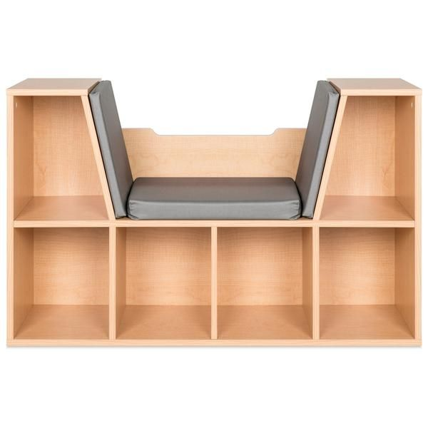 6-Cubbie barnbokhylla möbler accent med vadderad läshörn.