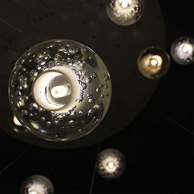 LEDIARY Elegant kristallglas rund boll med bubbla 3W 220V.