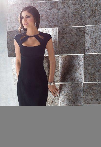 svart cut bodycon klänning
